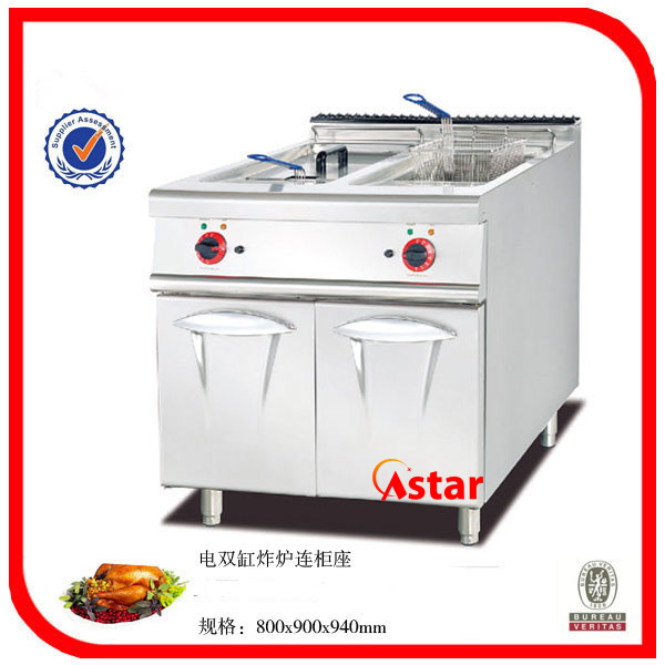 Electric 2-Tank & 2-Basket Fryer with Cabinet Ck01071011
