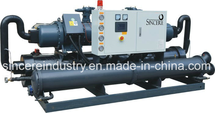 Water Cooled Screw Chiller with Plastic Industrial
