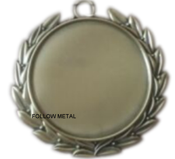 Blank Medal with Sticker in Middle Can Add Your Logo