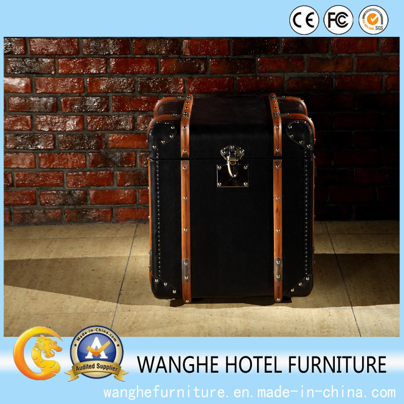 Creative Luxury Leather Side Table Coffee Table Cabinet