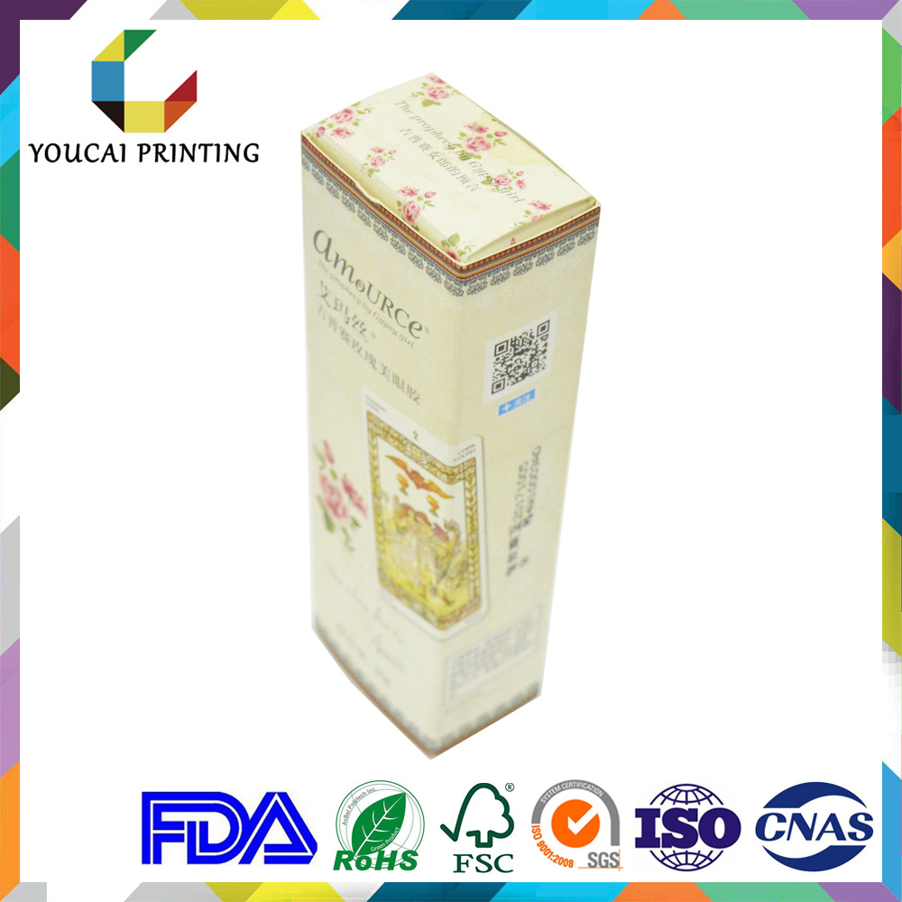 Full Printing Rectangle Floding Paper Packaging Box for Cosmetic