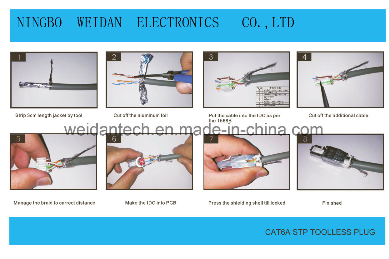 CAT6A/CAT6 FTP STP RJ45 Plug Assemblied Style
