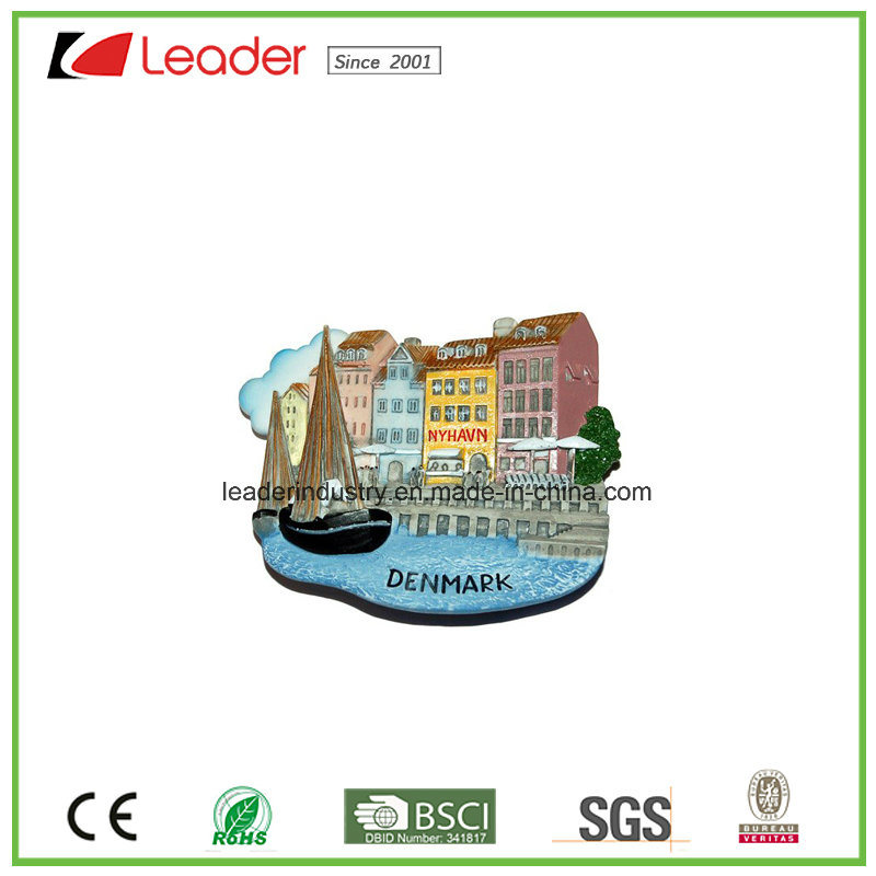 Hand Painted Polyresin Souvenir Refrigerator Magnet for Tourism Collection and Promotion Gifts