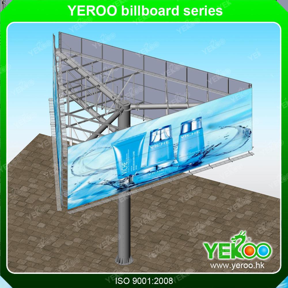 Outdoor Signage Outdoor Hoarding Billboard Pylons Steel Board Trivision Billboard