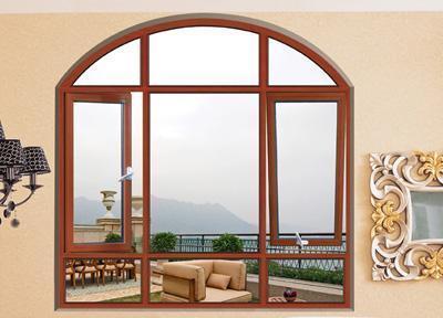 Woodwin Hot Seller Customized Style Double Tempered Glass Aluminium Window