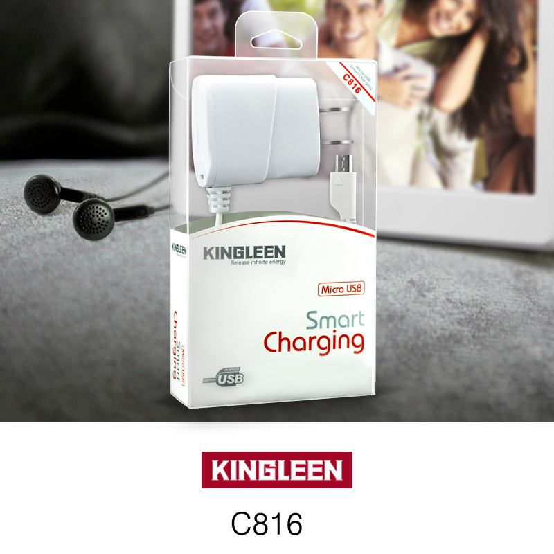 Kingleen C816 Mobile Travel Charger for iPhone7, 1.2mwire, 5V1a, Intelligent Direct Chargerexport to Europe