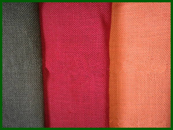 Wholesale Colorful Jute Fabric Roll