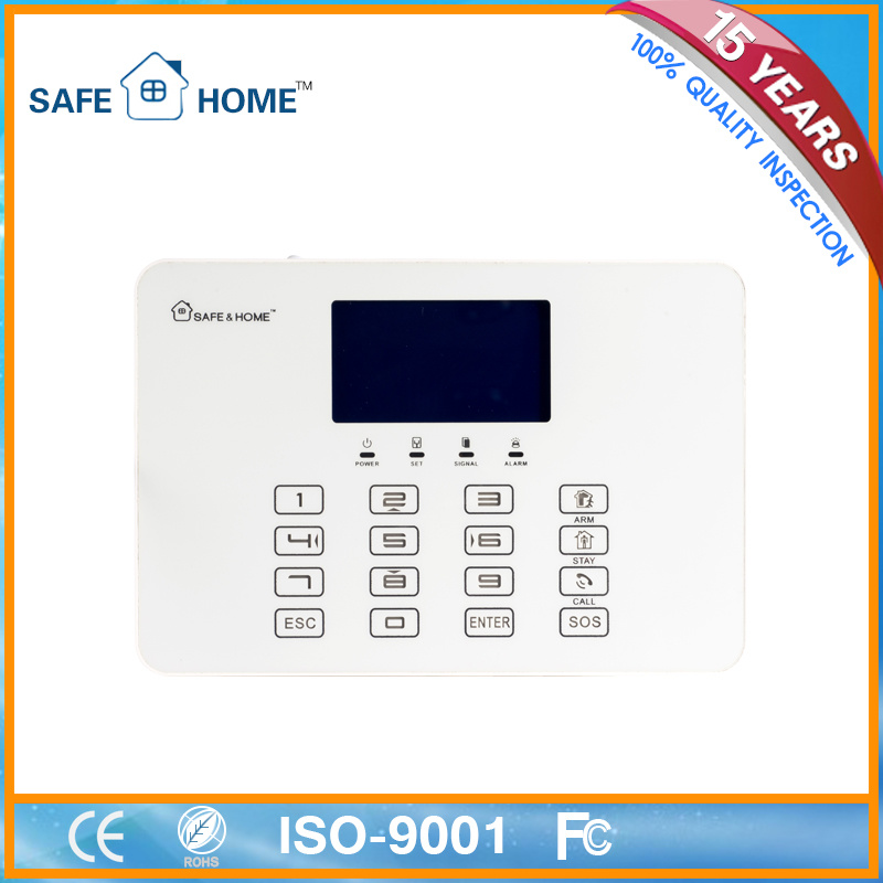 GSM House Burglar Fire Alarm System Panel