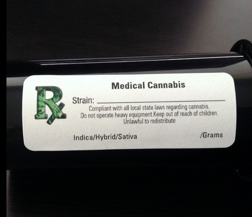 Legal Marijuana Used Rx Label Strain Medical Stickers