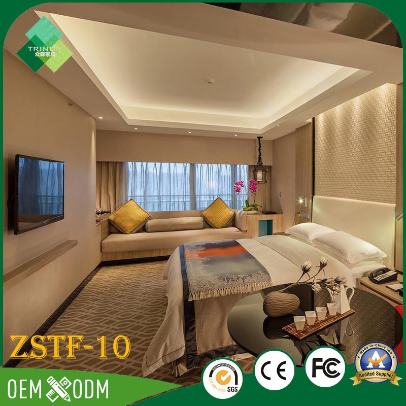 Environmental Wood Bedroom Furniture Set of Hotel Furniture (ZSTF-10)