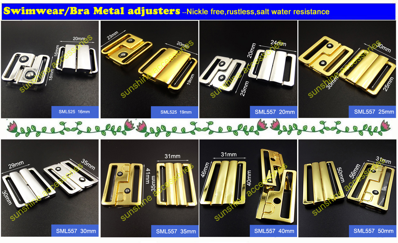 Garment Buckle, Hook &Loop, Bra Accessories, , Swimwear Metal Clip
