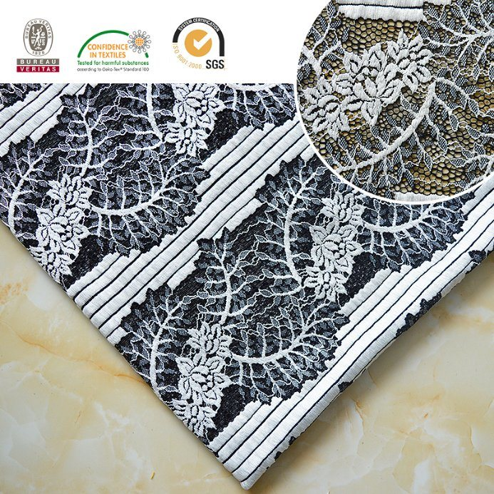 2017 High Quality Embroidery Lace Fabric Polyester Trimming Fancy Melt Polyster Lace for Garments & Home Textiles Ln10046