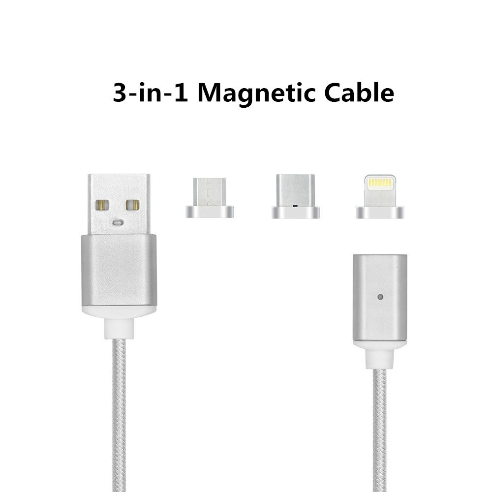 3 In1 Magnetic USB Charging Data Cable for iPhone/Android/Type C Devices