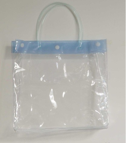 Hot Selling Recyclable Durable Clear PVC Shopping Bag with Button Closure