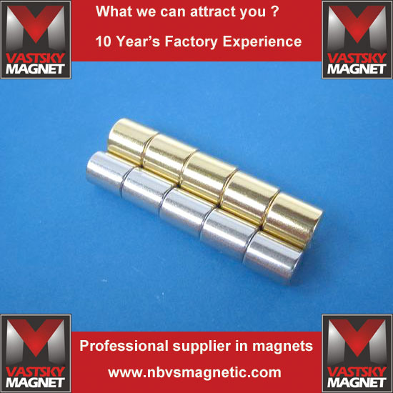 Sintered Permanent Earth N52 Strong Powerful NdFeB Neodymium Cylinder Magnet