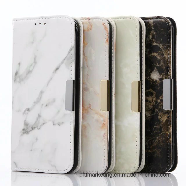 Marble Leather Wallet Cell Phone Case for Samsung S8/S8plus/S7/S7 Edge HTC LG All Series