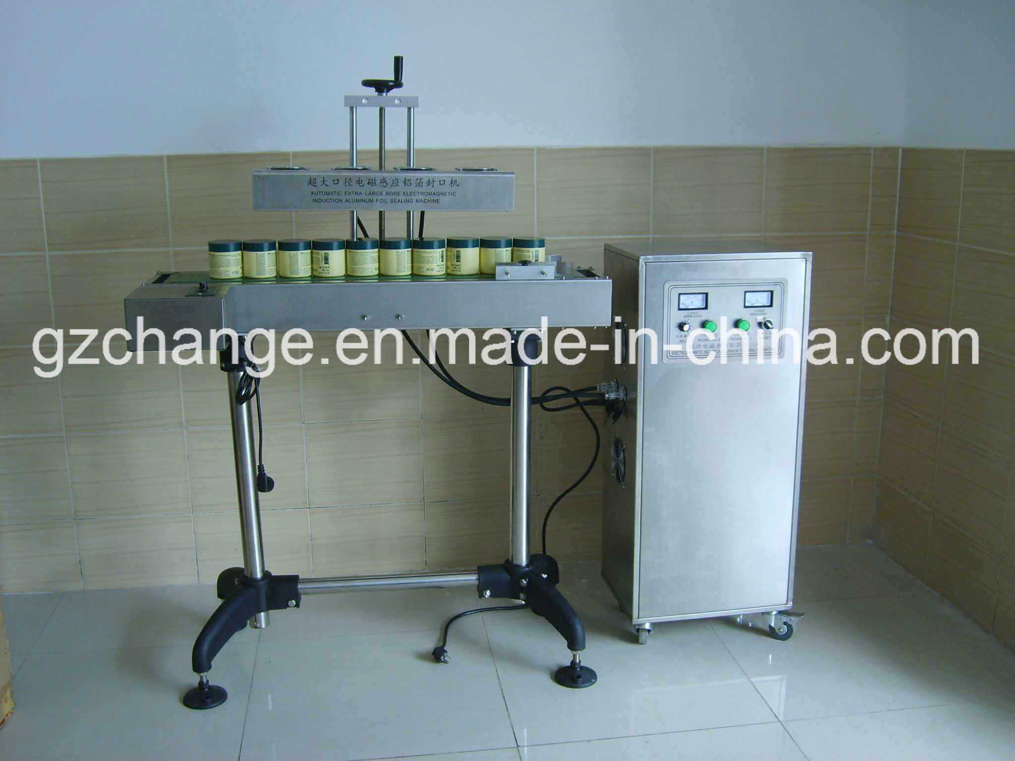 Automatic Bottles Jars Aluminum Foils Sealing Machine
