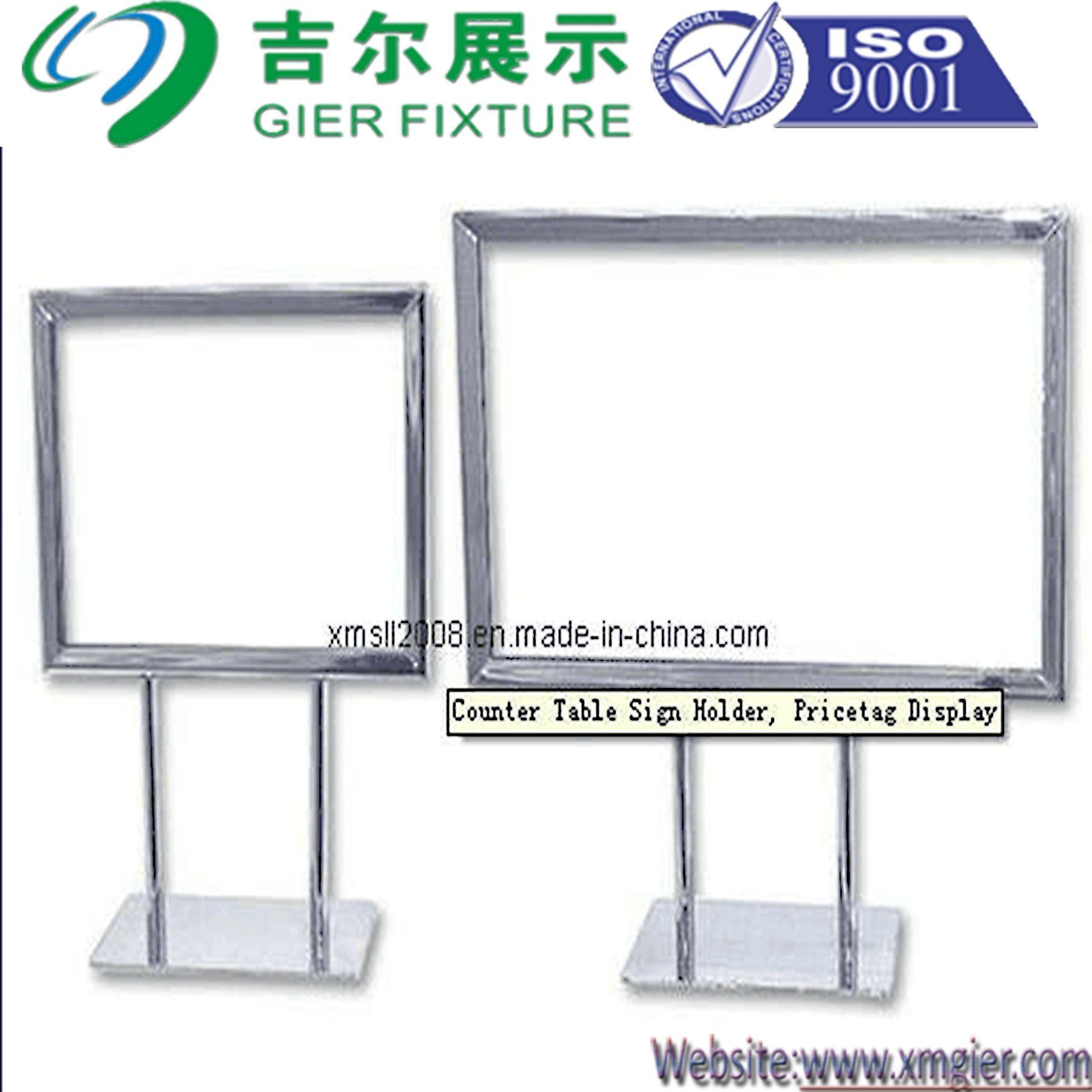 Steel Counter Sign Holder for Display (GDS-057)