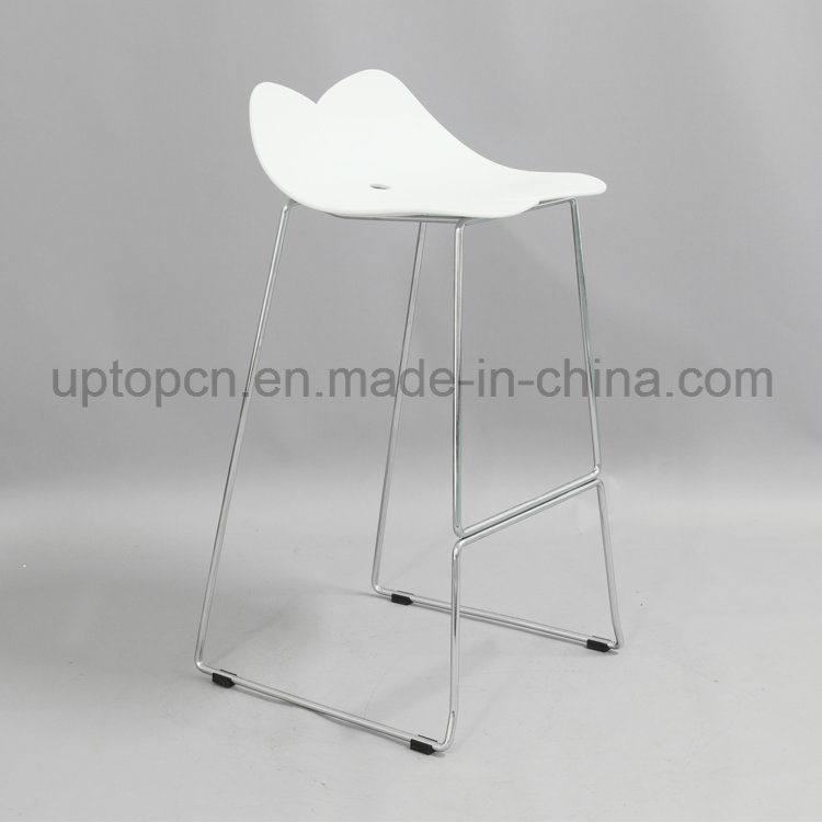 Color Optional Plastic High Bar Chair with Chrome Steel Chair Base (SP-UBC325)