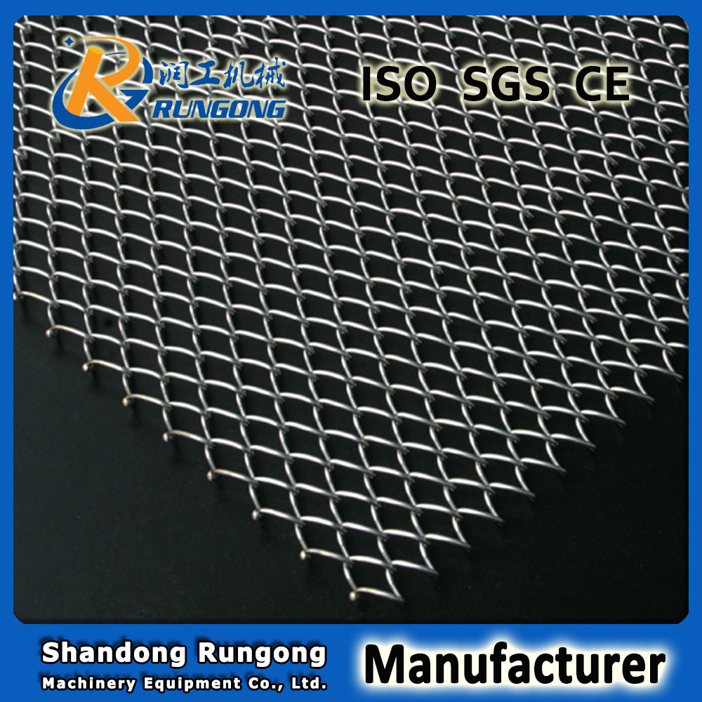 Manufacturer Stainless Steel Mesh Conventional Weave Conveyor Belt