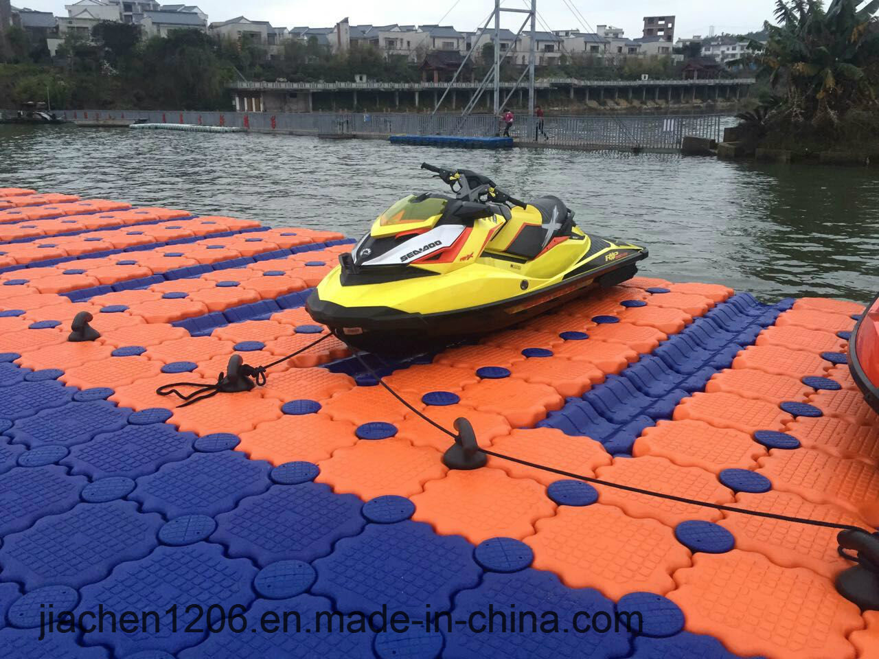 Durable Blue Plastic Floating Pontoon Dock Used Jet Ski Float