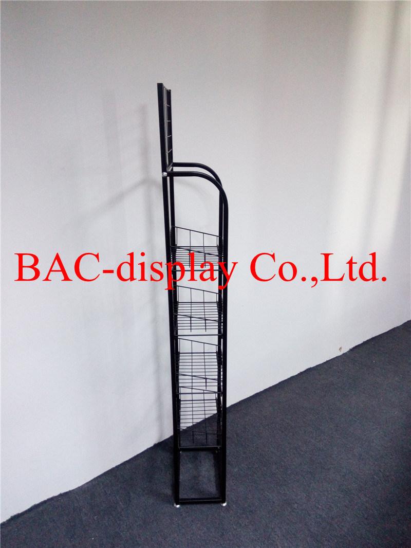 Floor Standing Metal Wire Food Display Rack for Supermarket