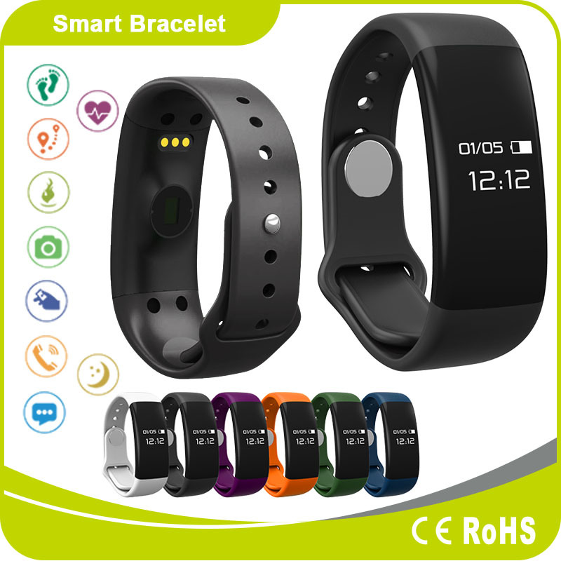 Heart Rate Monitor Pedometer Sleeping Monitor IP-X5 Ce RoHS Waterproof Bluetooth Wristwatches