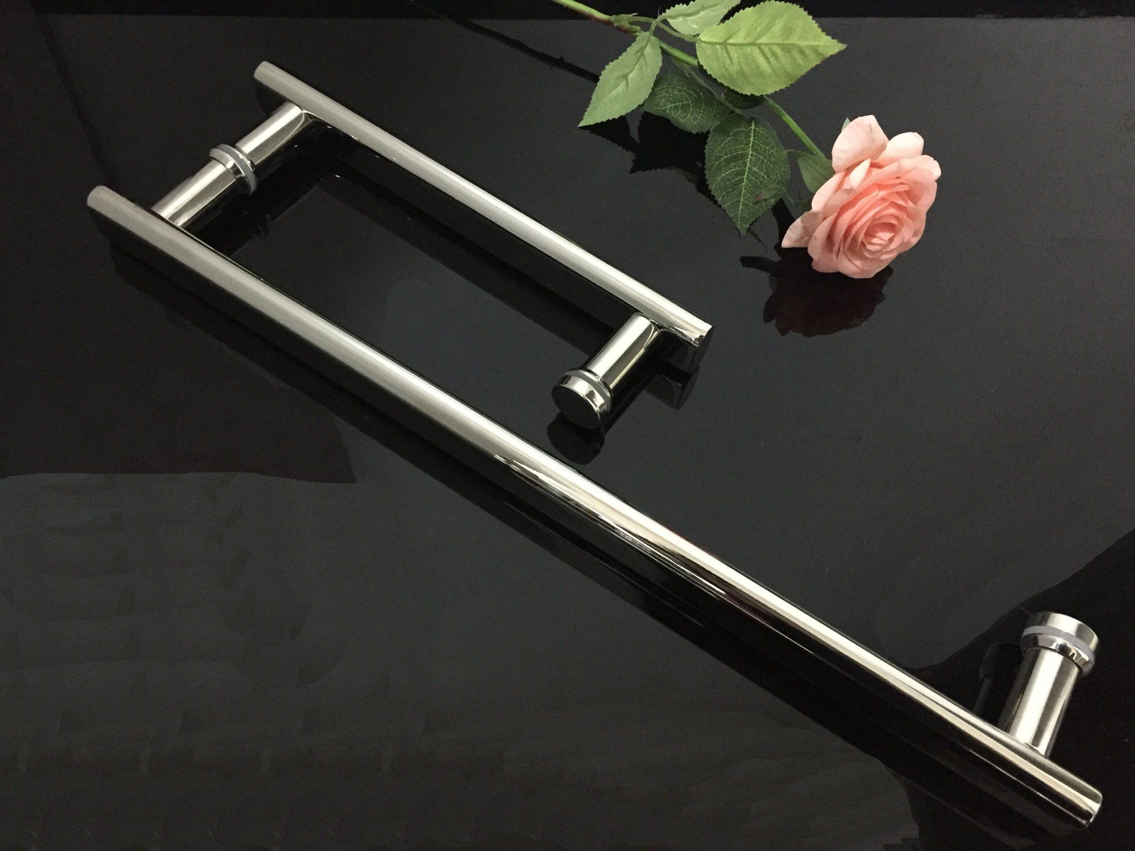 Stainless Steel Hinge Polish Shower Glass Door Handle