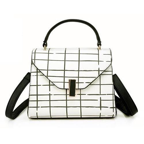 Hot Fashion Stripe Satchel Bags Designer Handbag Contrast Color Shoudler Bag China Supplier Sy8398