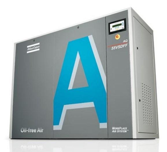Atlas Copco Water-Injected Screw Air Compressor Aq37VSD Aq55VSD