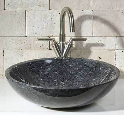 Granite Sink Bathroom : China Blue Pearl Granite Sink - China Stone Sink, Bathroom Sink