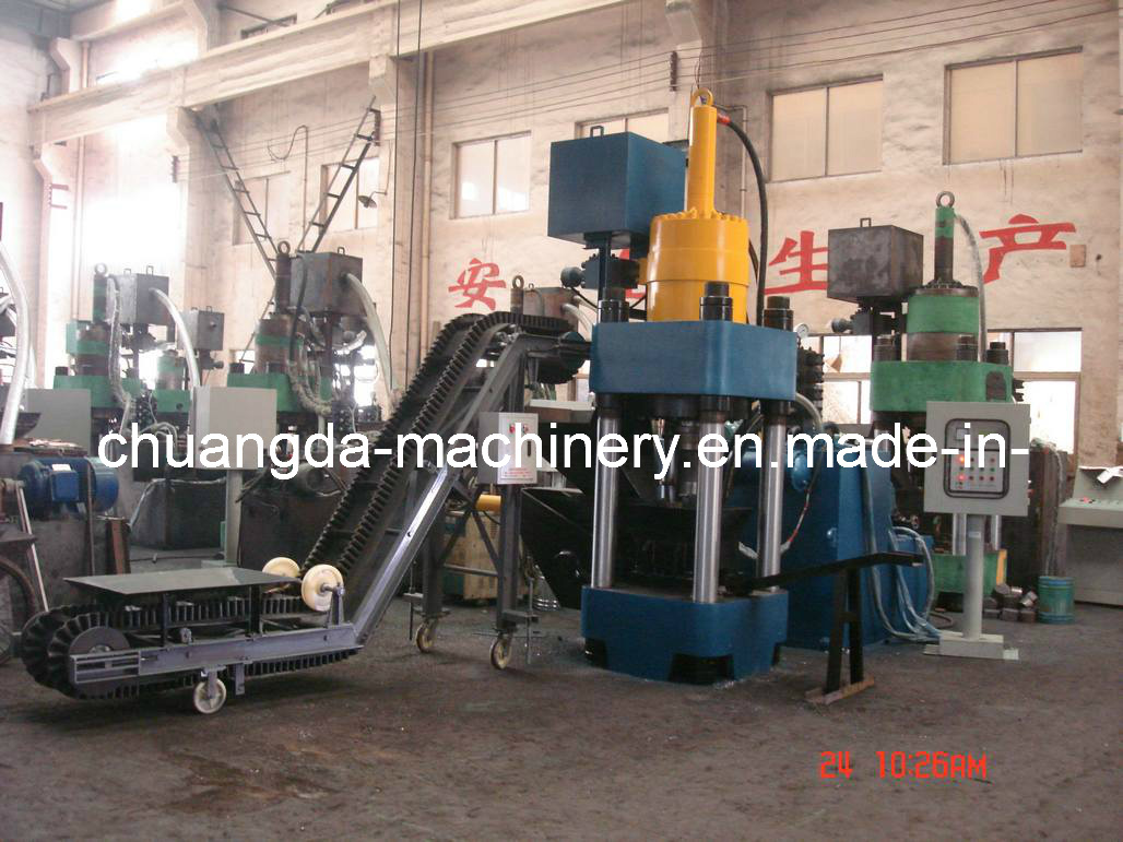Hydraulic Briquetting Press Machine with Coveyor (SBJ5000)