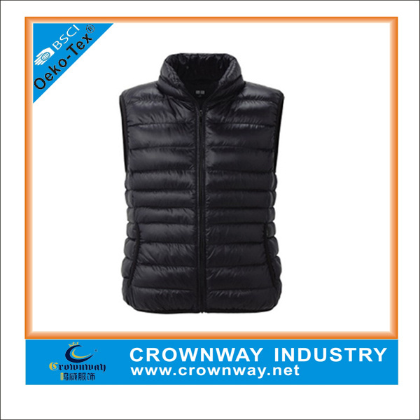 Popular Men Winter Faked Down Padded Vest, Sleeveless Jacket