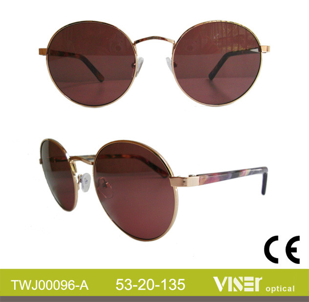 Customized Handmade Women Fashion Sunglasses with High Quality (96-C)