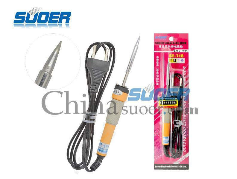Suoer Factory Price Electric 16W Internal Heating Soldering Iron (SE-716)