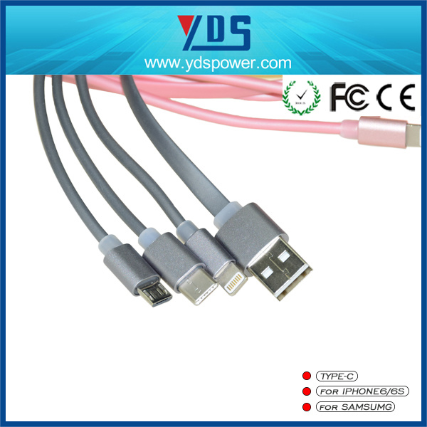 3 In1 Mobile Cable USB Date Cable for iPhone/Android/Type C