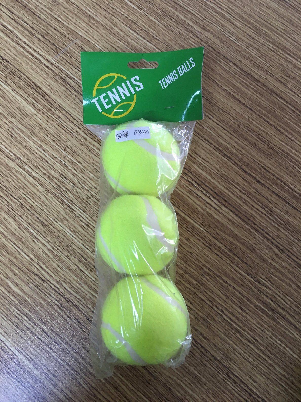 3PCS Plastic Bag Packing Yellow Tennis Traing Ball