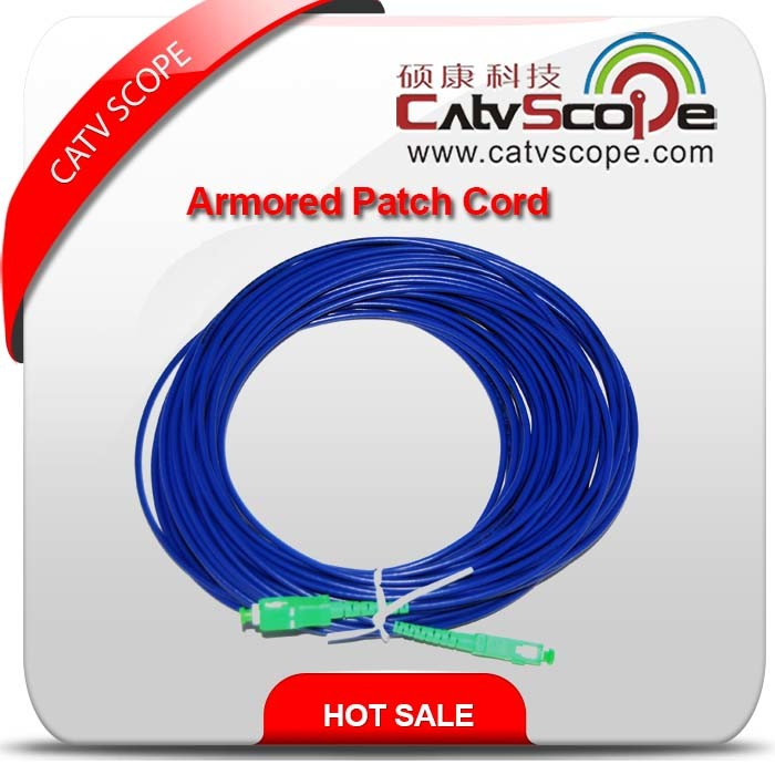 Catvscope 20m/40m/100m Armored Optical Fiber Patch Cord