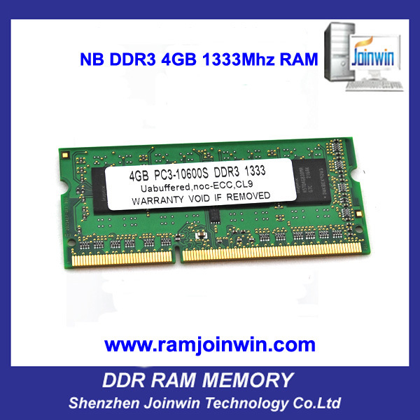 Full Compatible 256MB*8 Laptop RAM DDR3 PC10600 1333 4GB