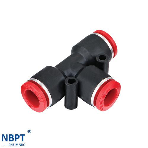 Pneumatic Union Tee Tube Fittings