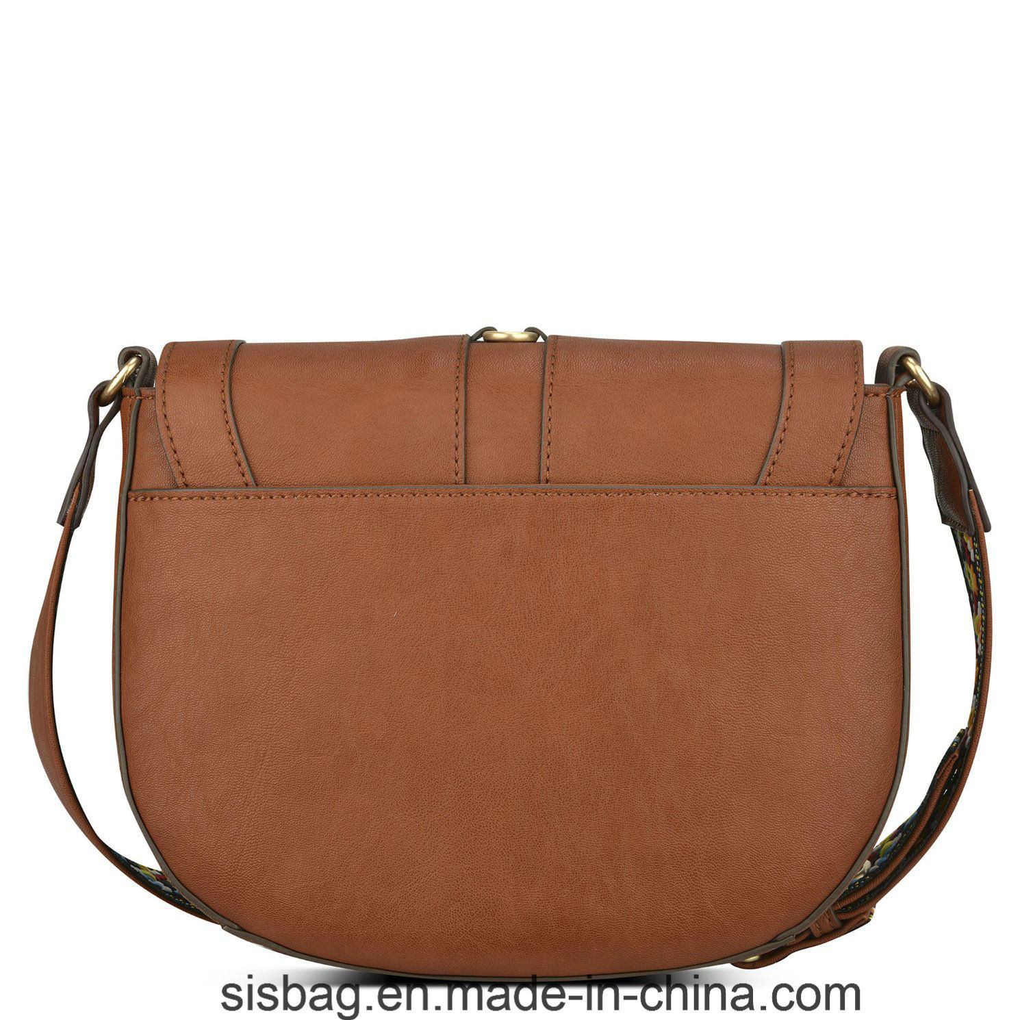 Colorful Straps Saddle Bag Sticthing Cross Body Bag