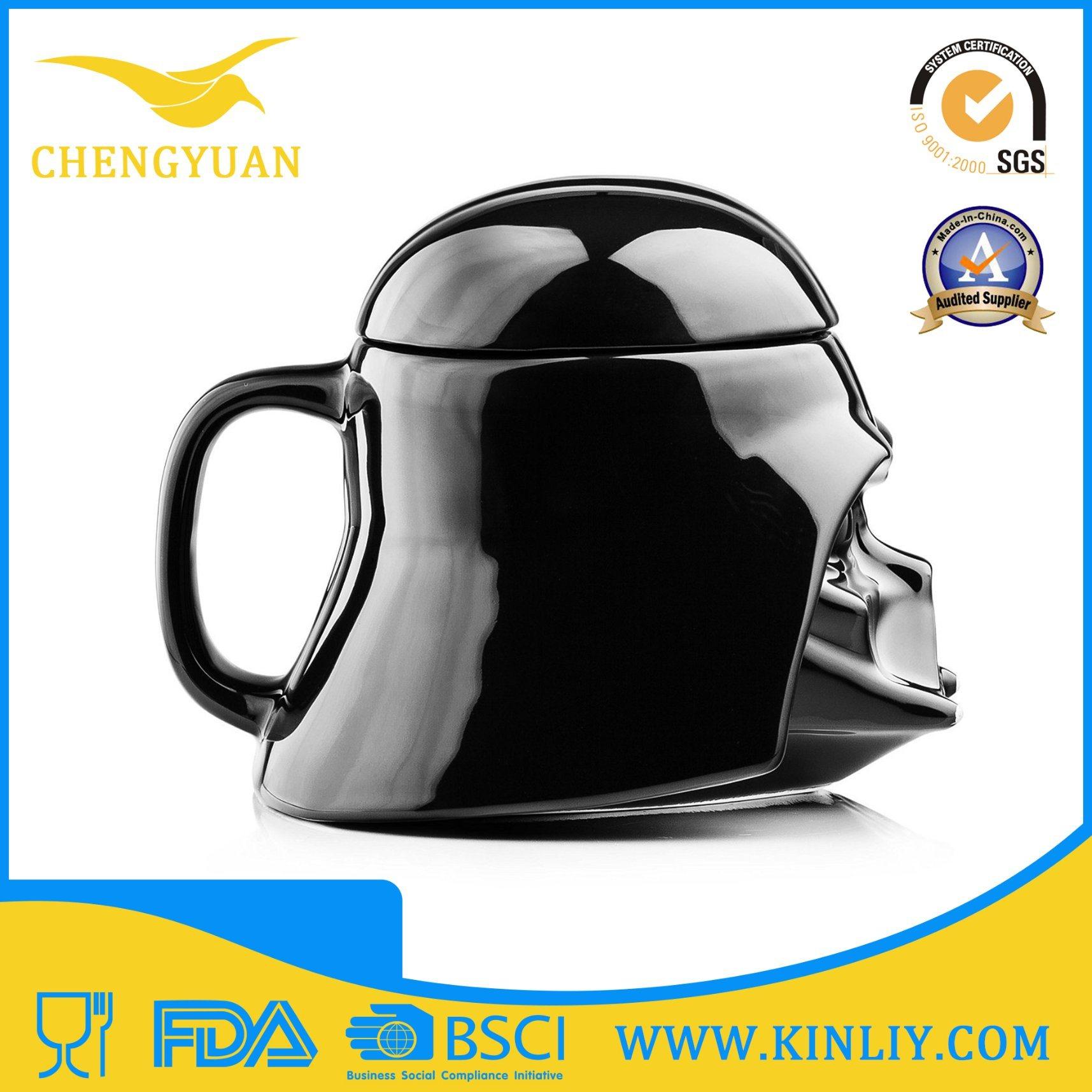 Cheap Ceramic Star Wars Tea Cup Coffee Mug with Lid