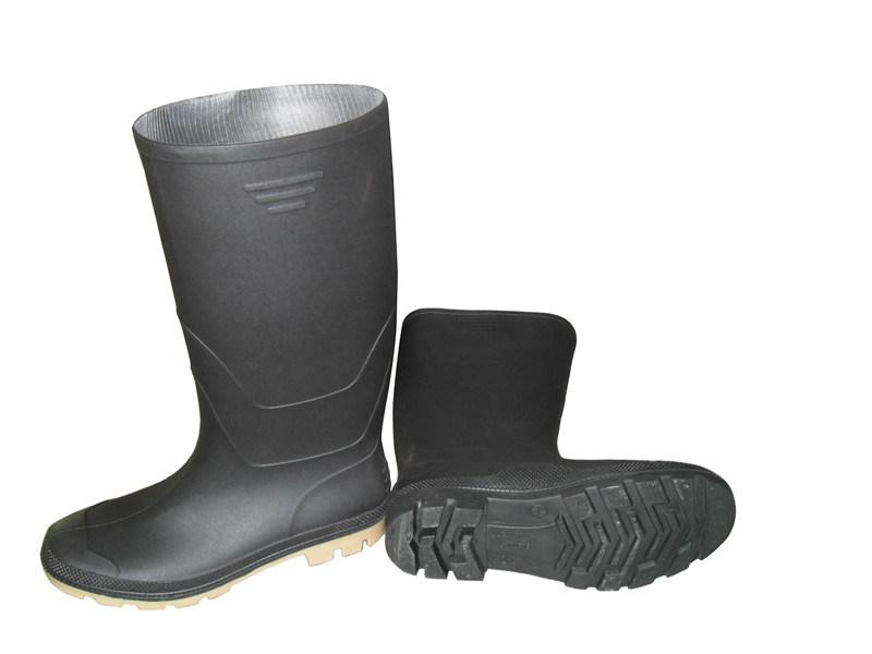 Safety Black Rubber Rain Shoes