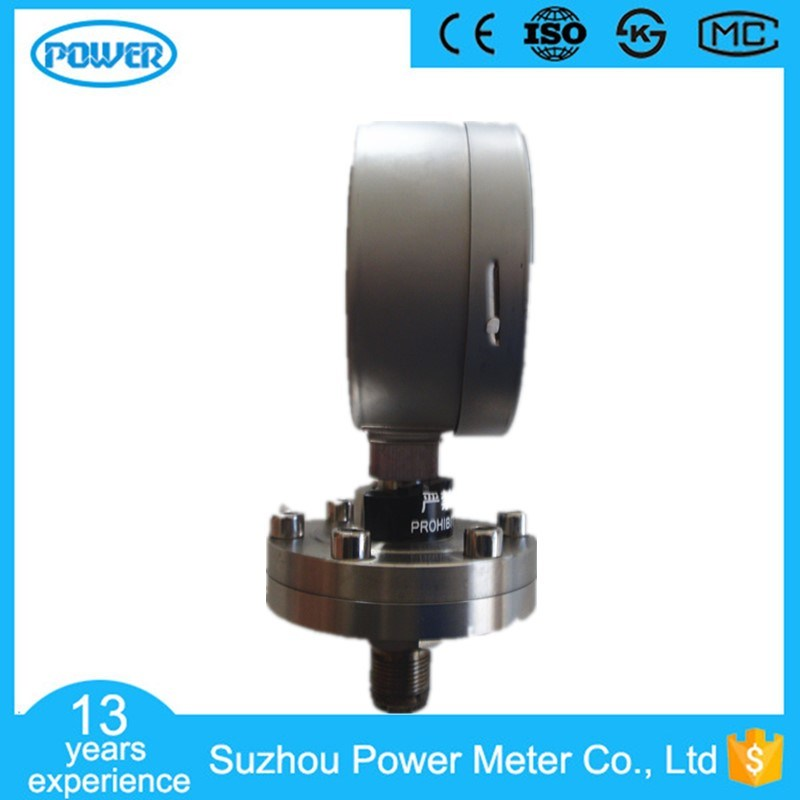 100mm High Quality All Stainless Steel Sanitary Type Diaphragm Manometer