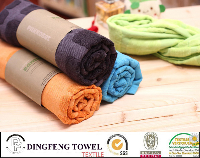 Hot Selling Solid Color Series Plain Weaving 100% Bamboo Towels for Bath Df-N158 140*70cm 480g