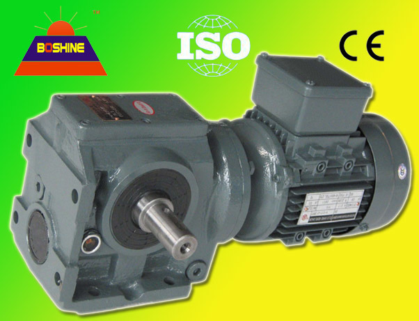 China Helical Worm Gearbox Speed Reducer Motor S37 S127