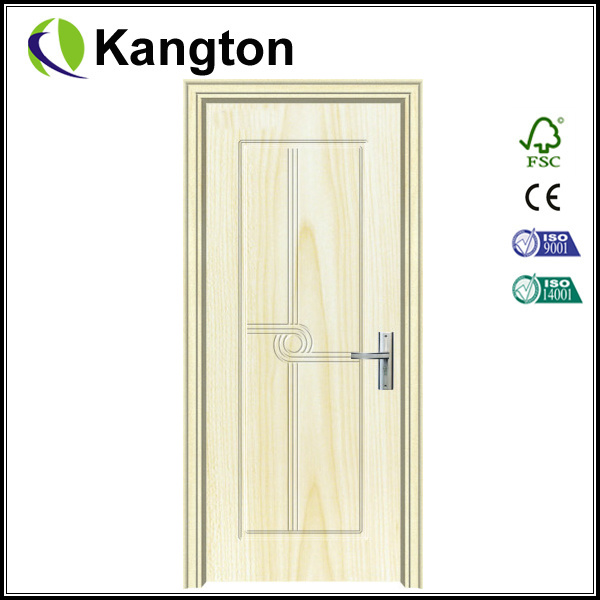 PVC Bathroom Door Glass Panel (PVC door)