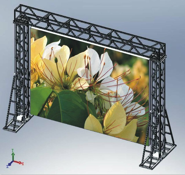 Die-Casting Aluminum LED Display Panel (P6, P4.8, P4 High refresh rate, Novastar system)