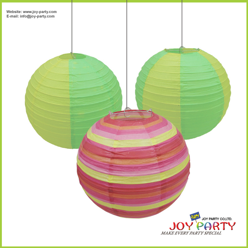 Round Printing Paper Lantern for Seasonal Easter Party Decoration