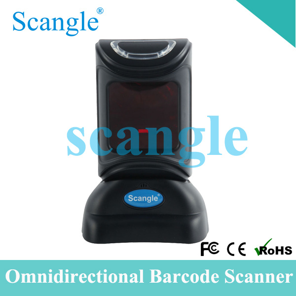 Omnidirectional Barcode Reader Desktop Laser Scanner with FCC/CE/RoHS Certificate